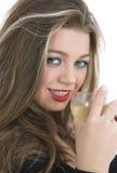 Beautiful girl with beaker Stock Image