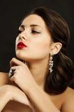 Beautiful girl in beautiful jewelry Royalty Free Stock Image