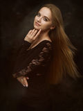 Beautiful girl with beauty long hair Royalty Free Stock Photos