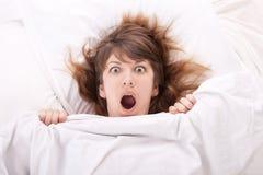 Beautiful girl in bed Stock Photo