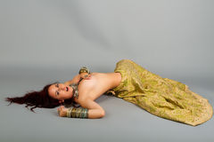 Beautiful girl belly dance Stock Photos
