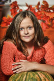 Beautiful girl with big expressive eyes Royalty Free Stock Image