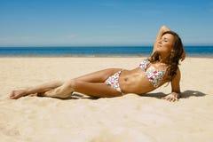 Beautiful girl in a bikini Royalty Free Stock Image