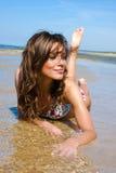 Beautiful girl in a bikini Royalty Free Stock Photos