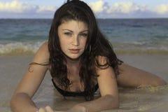 Girl in bikini at the beach Royalty Free Stock Photo
