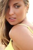 Beautiful girl in bikini on a beach Stock Image