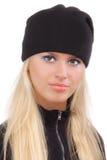 Beautiful girl in black cap Stock Photo
