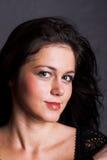 Beautiful girl in black dress Royalty Free Stock Image