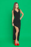 Beautiful girl in a black dress Royalty Free Stock Photography