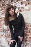Beautiful girl in black Royalty Free Stock Photo