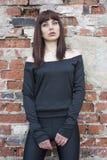 Beautiful girl in black Stock Photos