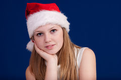 Beautiful girl 6. A blond beautiful girl in Christmas time Stock Photos