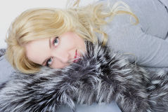 Beautiful girl blonde Royalty Free Stock Photos