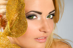 Beautiful girl with blonde hair Royalty Free Stock Photos