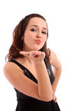Beautiful girl blowing a kiss Royalty Free Stock Photos