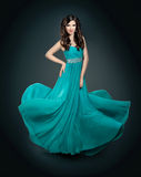 Beautiful girl in blue dress Royalty Free Stock Photos