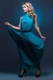 Beautiful girl in blue dress Royalty Free Stock Photo
