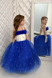 Beautiful girl in blue dress Royalty Free Stock Image