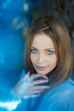 Beautiful girl with blue eyes Royalty Free Stock Images