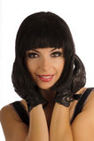 Beautiful girl with bob hairstyle Royalty Free Stock Photos