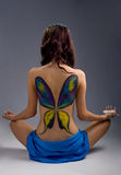 Beautiful girl with bodyart Stock Images