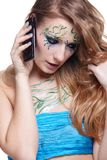 Beautiful girl with bodyart Royalty Free Stock Photography