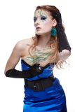 Beautiful girl with bodyart Stock Photography