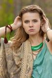 Beautiful girl in boho style Stock Photos