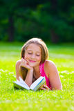 Beautiful girl with book Stock Images