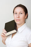 Beautiful Girl and Book Royalty Free Stock Image