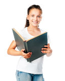 Beautiful girl with a book Stock Image