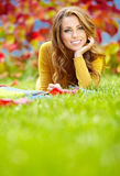 Beautiful girl with book Royalty Free Stock Images