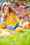 Beautiful girl with book Stock Image
