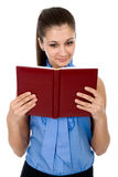 Beautiful girl with the book in a hand Royalty Free Stock Photography