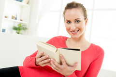 Beautiful girl with book Royalty Free Stock Image