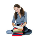 The beautiful girl with books Royalty Free Stock Image