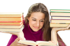 Beautiful girl with books Royalty Free Stock Photo