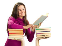Beautiful girl with books Stock Image