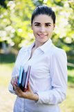 Beautiful girl with books Royalty Free Stock Photos