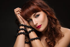 Beautiful girl with bound hands Royalty Free Stock Photo