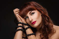 Beautiful girl with bound hands Royalty Free Stock Photography