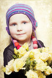 Beautiful girl with a bouquet Royalty Free Stock Photography