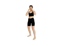 Beautiful girl boxing Stock Image