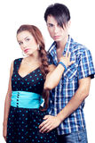 Beautiful girl with boy Stock Photography