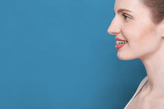 Beautiful girl with braces Royalty Free Stock Images