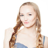 Beautiful Girl with Braids Royalty Free Stock Images