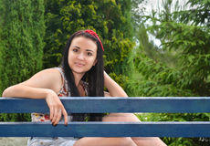Beautiful girl brunette Royalty Free Stock Images