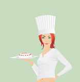 Beautiful Girl with Cake Royalty Free Stock Image