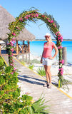 Beautiful Girl on the Caribbean coast. Sol Cayo Largo. Cuba Royalty Free Stock Photo