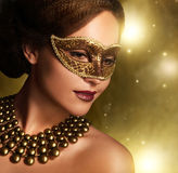Beautiful girl in carnival mask Royalty Free Stock Image